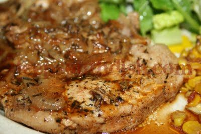 Easy Pork Chop and Onion Bake