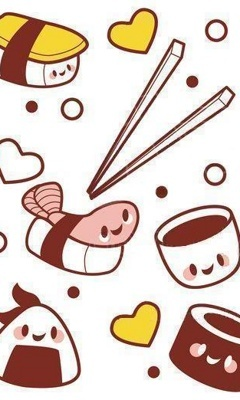 Kawaii Sushi Background Photo This Was Uploaded By Puffchan Find Other Pictures And Photos Or Upload Your Own With