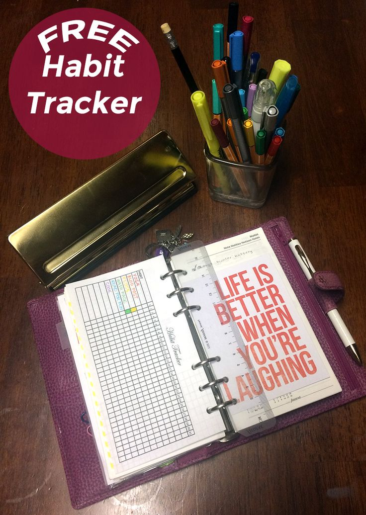 FREE Habit tracker for personal size filofax planners