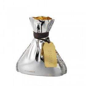 Britannia silver and gild wine decanter. It has a cork stopper and holds a full bottle of wine.