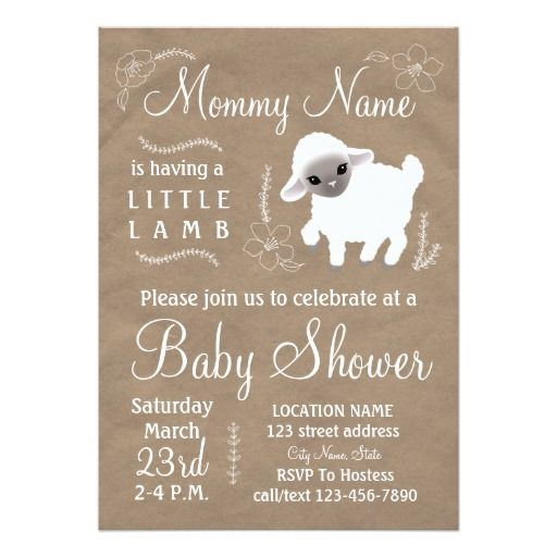 20 best lamb baby shower invitations ideas images on pinterest cute little lamb baby shower invitation a gender neutral design in white and tan filmwisefo