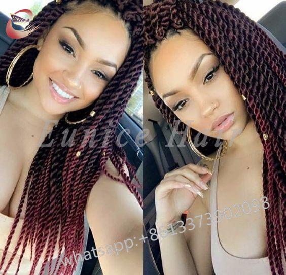 Elastic Senegalese Twist Hair Braids Curly Crochet