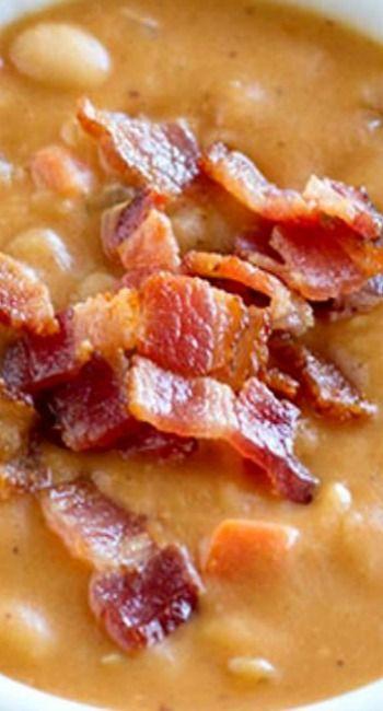 Homemade Bean and Bacon Soup