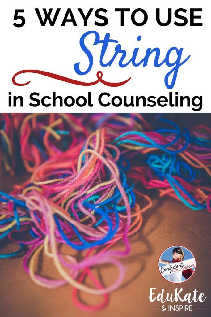 5 Fun and Easy School Counseling Activities Using String 5 free and easy school counseling activities using string. Focus on growth mindset, worry, fidget toys, calming skills, and trauma. https://confidentcounselors.com/2017/12/04/school-counseling-activities-using-string/