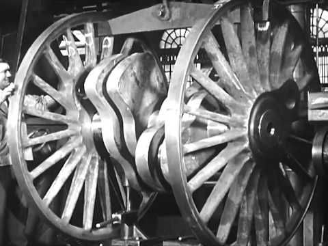 "6207 Princess Arthur of Connaught' LMSR Princess Royal 4-6-2 undergoing construction in August 1935 , withdrawn November 1961. from ""Building Steam Locomotives - 1930's Trains & Railways Educational Film"" - S88TV1 - YouTube."