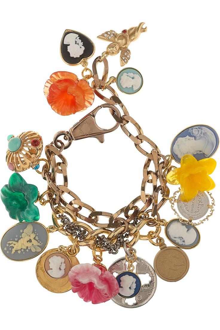 Dolce & Gabbana Cameo Charm Bracelet