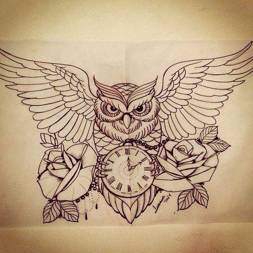 Halaah Io Best Tattoo Designs For Men: 25+ Beste Ideeën Over Uil Tattoo Ontwerp Op Pinterest