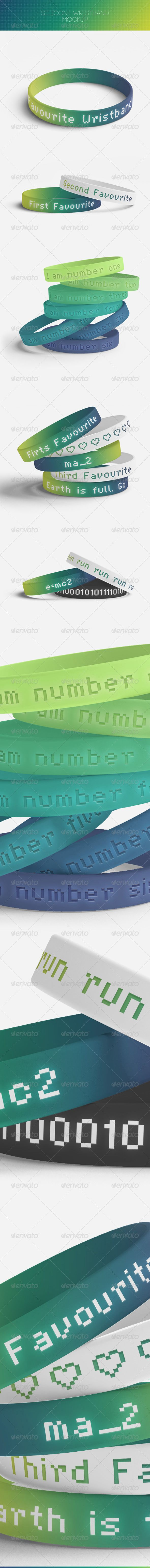 Silicone Wrtistband Mock-Up | #wrtistbandmockup | Download: http://graphicriver.net/item/silicone-wrtistband-mockup/8586526?ref=ksioks