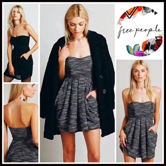 "❗️1-HOUR SALE❗️FREE PEOPLE Black White Mini Dress RETAIL PRICE: $128  💟NEW WITH TAGS💟   FREE PEOPLE Black Short Tube Mini Dress   * Super soft knit  * Strapless bodice w/boning;Party, cocktail  * Side pockets, raw hem, & side zip  * Approx 26"" long  * Stretch-to-fit style;Tagged 2 (XS),approx fits sizes 0-2 or 4 (S) bodycon body conscious bandage Fabric:95% cotton & 5% spandex Color:Black, Ivory striped Item#FP95200 # sheath shift LBD Little Black 🚫No Trades🚫 ✅Offers Considered*/Bundle…"