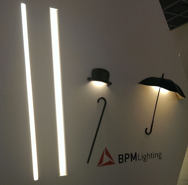Hat/umbrella shaped lighting - Click on the picture to see the rest of the photos on our blog.