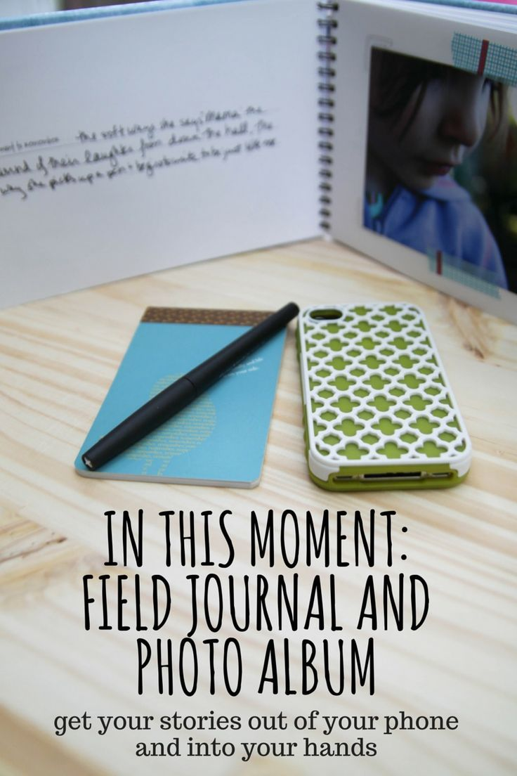 In This Moment: Field Journal and Photo Album is a book for you to hold in your hands and fill with your photos and stories. It's like a photography meets mindfulness ecourse that arrives in your actual mailbox to encourage you to get your stories out of your phone and into your hands.