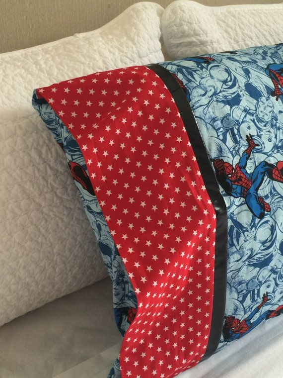 Spiderman Pillowcase / Pillowslip by kuronekoetsy on Etsy