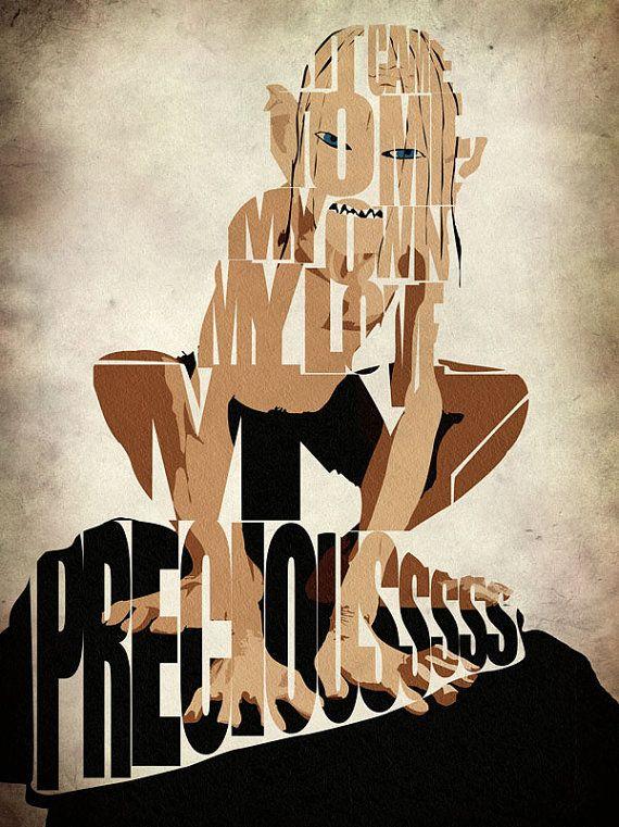 Gollum a inspiré Poster Seigneur de l'impression de par GeekMyWalL