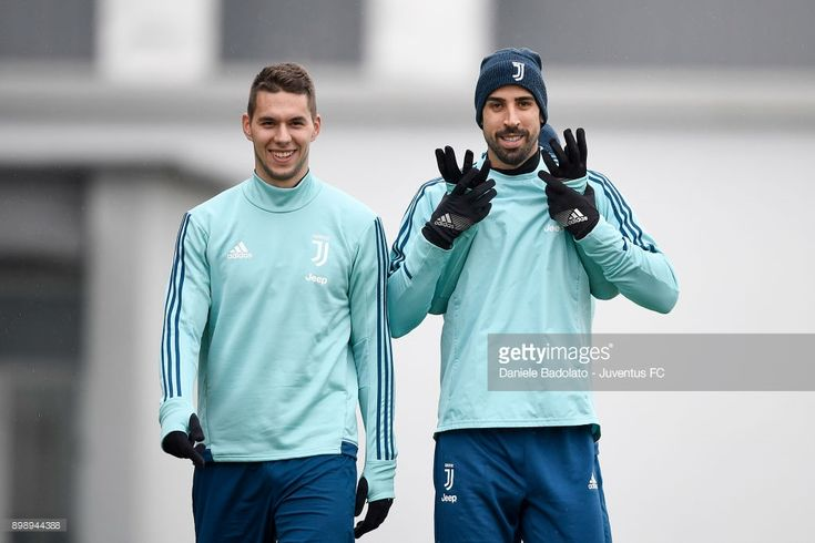 Marko Pjaca , Paulo Dybala and Sami Khedira during a Juventus Training Session at Juventus Center Vinovo on December 27, 2017 in Vinovo, Italy.