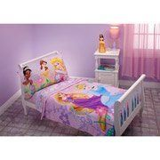 Disney - Princess Dreams Bloom 4-piece Toddler Bedding Set by Disney. $71.86. Keep your toddler close the Disney characters she loves with this Disney Princess Dreams 4-Piece Toddler Bedding Set. Playful flowers and happy birds join her in this Disney toddler bedding set. The 4-piece set includes a colorful comfort, top sheet, bottom sheet and reversible pillow case. Made with soft microfiber material, the Disney princess bedding set will delight your toddler. Designed to fit...