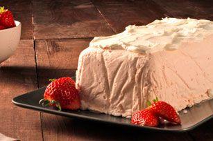 Dessert glacé aux fraises et à la limonade