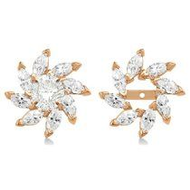 Marquise Earring Jackets in 14k Rose Gold (0.16ct)