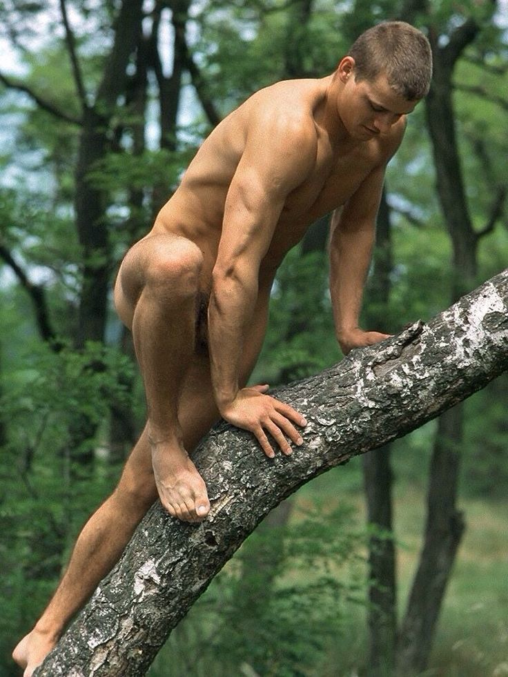 Naked gay mountain climbing