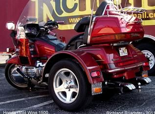 Custom Goldwing with a Richland Roadster trike kit added.  It looks like it came this way.  richlandroadster.com