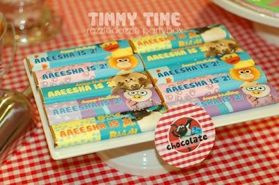 Razzle Dazzle Party Box: Theme Birthday Party: Timmy Time
