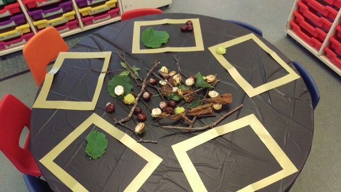 Autumn transient art, inspired by the current love of conkers! #eyfs #earlyyears #aceearlyyears #earlyyearsart #eyfsart #transientart
