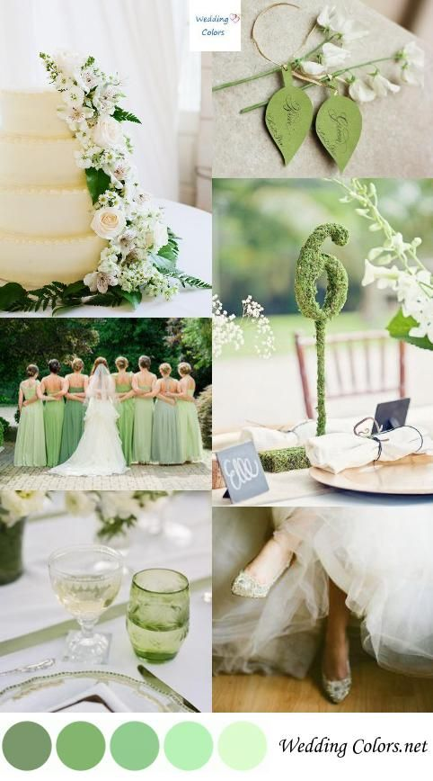 Shades of Green Wedding Colors                                                                                                                                                                                 More