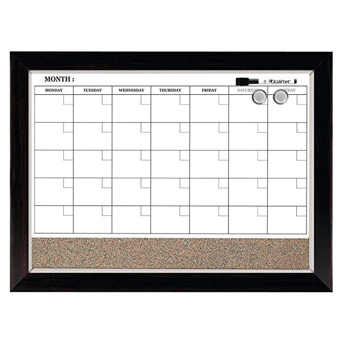 Amazon Com Quartet Combination Magnetic Whiteboard Calendar