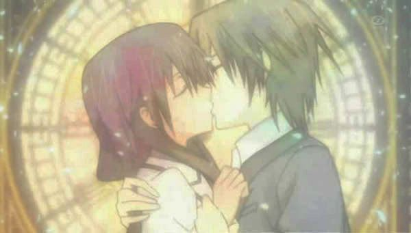 Special a Anime Kiss   kei and hikari from special a.after they go back like nothing happend isn't that great
