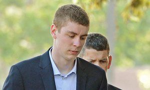 The victim said that Brock Turner, above, was 'willing to go to any length, to discredit me, invalidate me, and explain why it was okay to hurt me'.