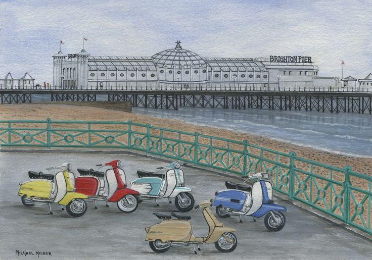 "006MM101 - The Italian Job visits Brighton - 16"" x 12"" Print Only £12.99 9.5"" x 6.5"" Mounted to 14"" x 11"" - £12.99"