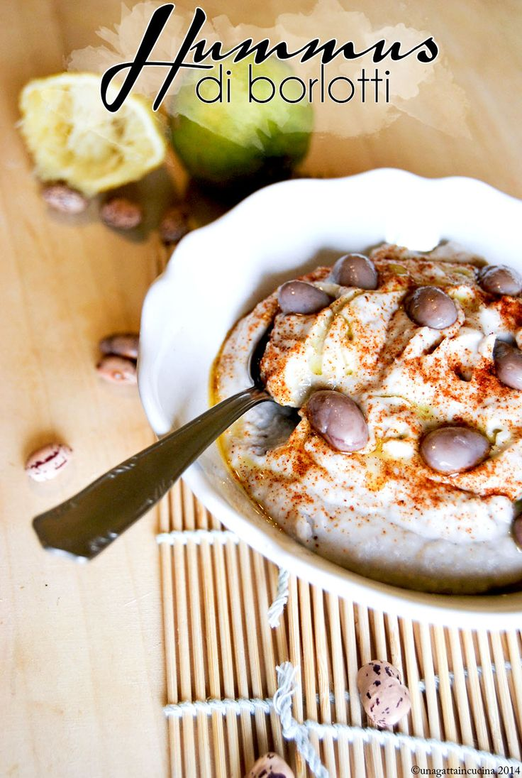Una gatta in cucina: Hummus di fagioli borlotti