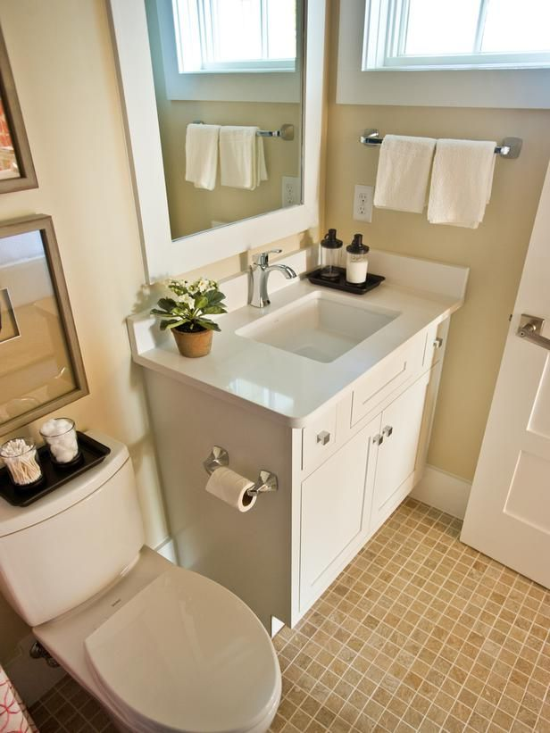 DIYNetwork.com shows you how to make the most of your small bathroom with clever tips and storage ideas.
