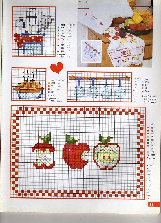 147 best images about cocina punto de cruz on pinterest - Punto de cruz cocina ...