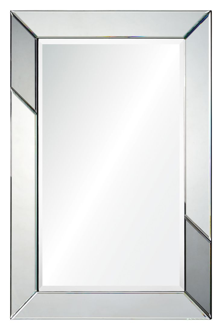 Williams sonoma home five panel beveled mirror - Ren Wil Rumba Rectangular Beveled Framed Mirror Silver Mirror Grey Mirror Home Decor Mirrors Lighting