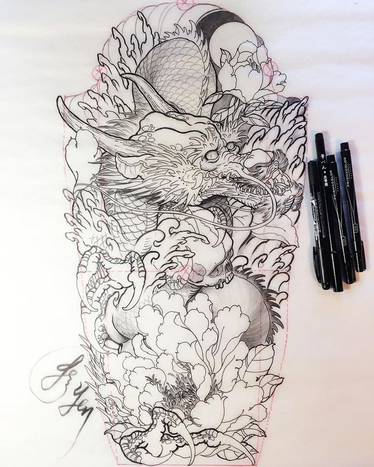 Sketch For A Japanese Sleeve: Best 25+ Japanese Dragon Tattoos Ideas On Pinterest