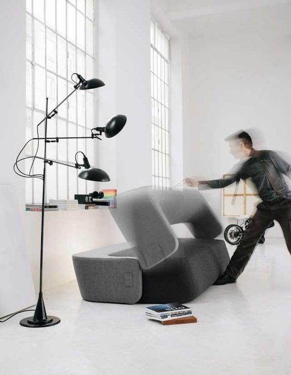 Derniers canapés-lits idées de conception - un lit supplémentaire caché