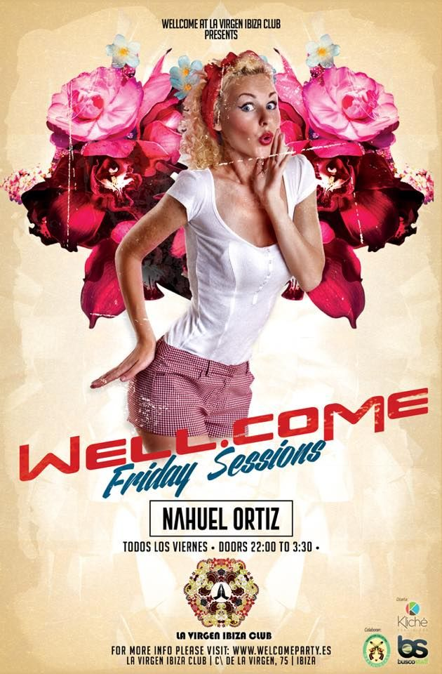 #Welcomeparty >>>  This Friday Pin up Session ! Club la Virgen , Ibiza !