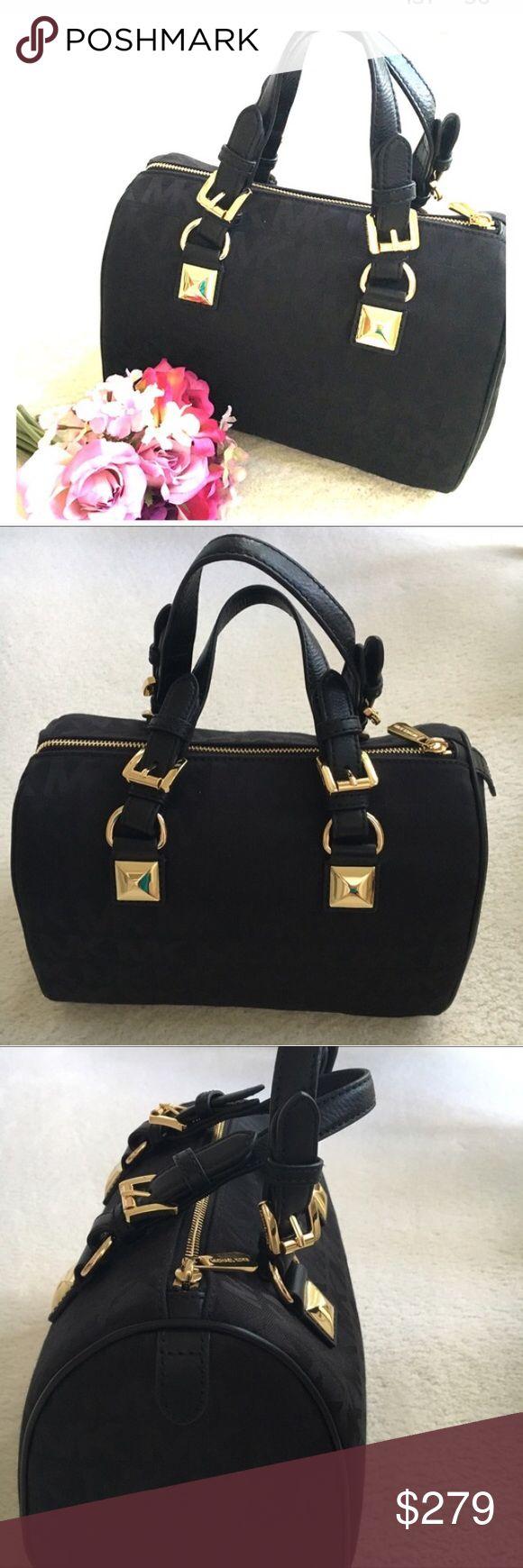 Michael Kors satchel Gorgeous Black Greyson Monogram medium canvas satchel with MK Logo and gold tone hardware by Michael Kors . Measures 9.5 x 14  New! Authentic 🚫trades Michael Kors Bags Satchels