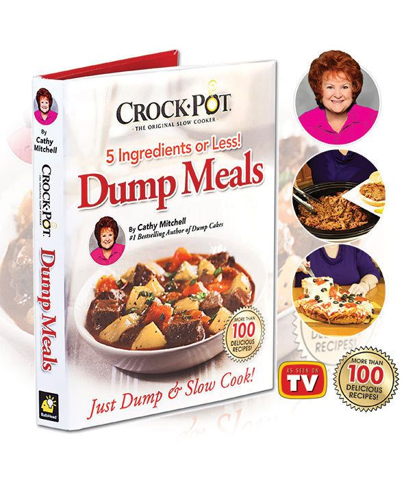 CROCK-POT® 5-INGREDIENT DUMP MEALS COOKBOOK AS SEEN ON TV #Unbranded