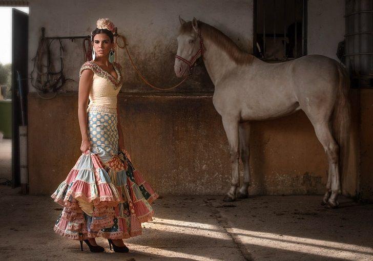 Traje de la nueva colección 'Flamencas de Pitiminí'. Modelo: Soledad Bayón.