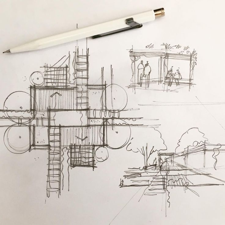 Architectural Drawing Sketch