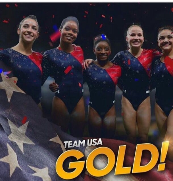USAWomenGymnastic #Wins #GoldMedal #Gold #Victory #Gymnastic #USA #AmericanWomen…
