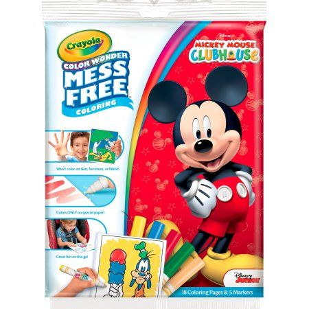 Crayola Color Wonder, Disney Mickey Mouse Clubhouse, 18 Coloring Pages, 5 Markers