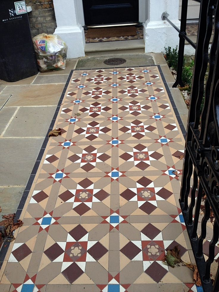 victorian edwardian mosaic tile path london