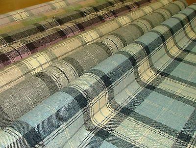 Isle of Skye 100% Wool Thick Tartan Plaid Upholstery  Curtain Designer Fabric