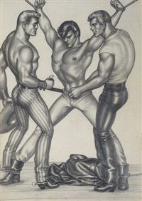 The Saddle Thief XIII by  Tom of Finland