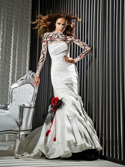 Red and black lace wedding dress. / Wedding Dresses 2013