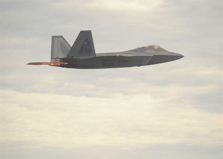 An F-22 Raptor, from the 43rd Fighter Squadron, takes off in Savannah, Ga., during Sentry Savannah 16-3, Aug. 2, 2016. The F-22 is a fifth-generation fighter aircraft. (U.S. Air Force photo/Senior Airman Solomon Cook)