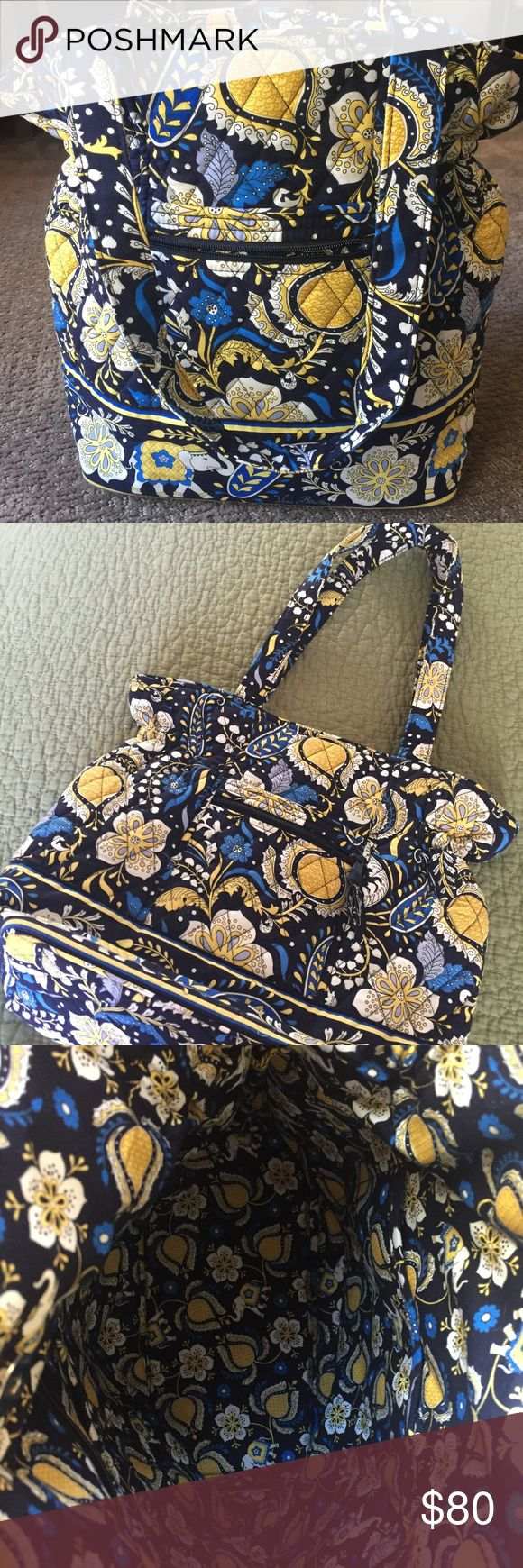 """VERA BRADLEY Carryall Bag Brand New / No Tag  This Bag could also be used as a Diaper Bag (a great Baby Shower Gift)  Dimentions:  13"""" Tall / 30"""" Circumference / (2) 24"""" Shoulder Straps Inside of Bag: It has (3) 4 1/2"""" Wide X 7"""" Tall pockets (great for carrying 3 Bottles) 7"""" Wide X 6"""" Deep Zippered Pocket on the other side Vera Bradley Bags"""
