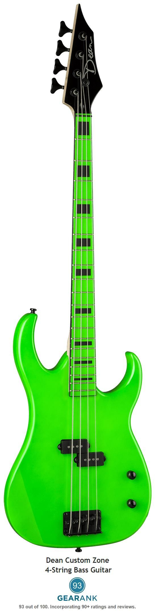 The Highest Rated Bass Guitar Under $200 is the Dean Custom Zone Bass.